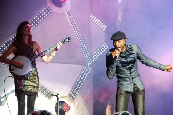 Audra Mae and Aloe Blacc at Ultra Miami